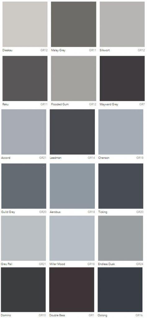 Dulux Grey Paint Color Selection