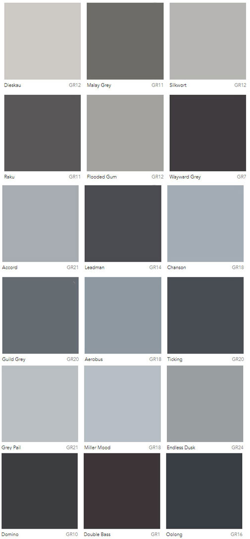 Grey Colour Charts Dulux Australia Interiors By Color