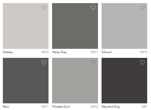 Grey Colour Charts Dulux Australia