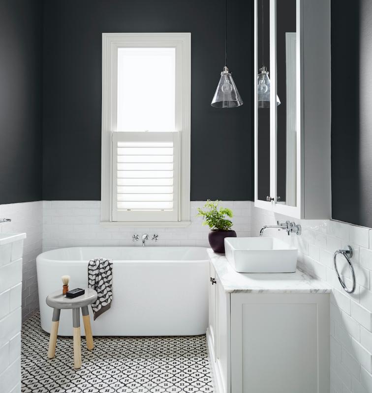 dark bathroom paint color ideas Dulux