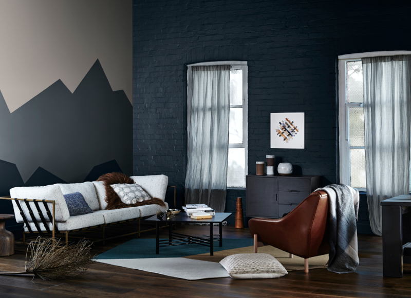 Black Accent Wall Bedroom Color Schemes Grey