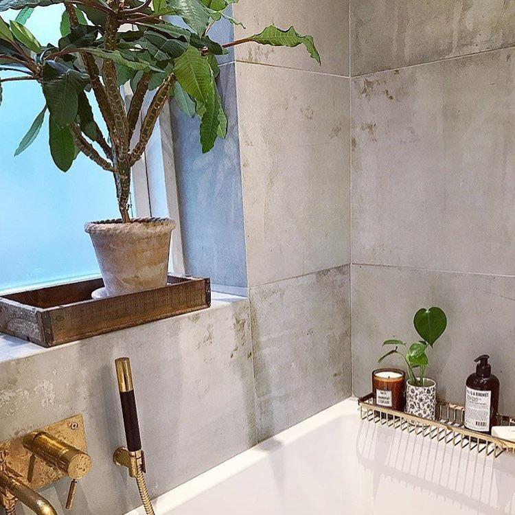 concrete tiles bathroom wall interior design idea