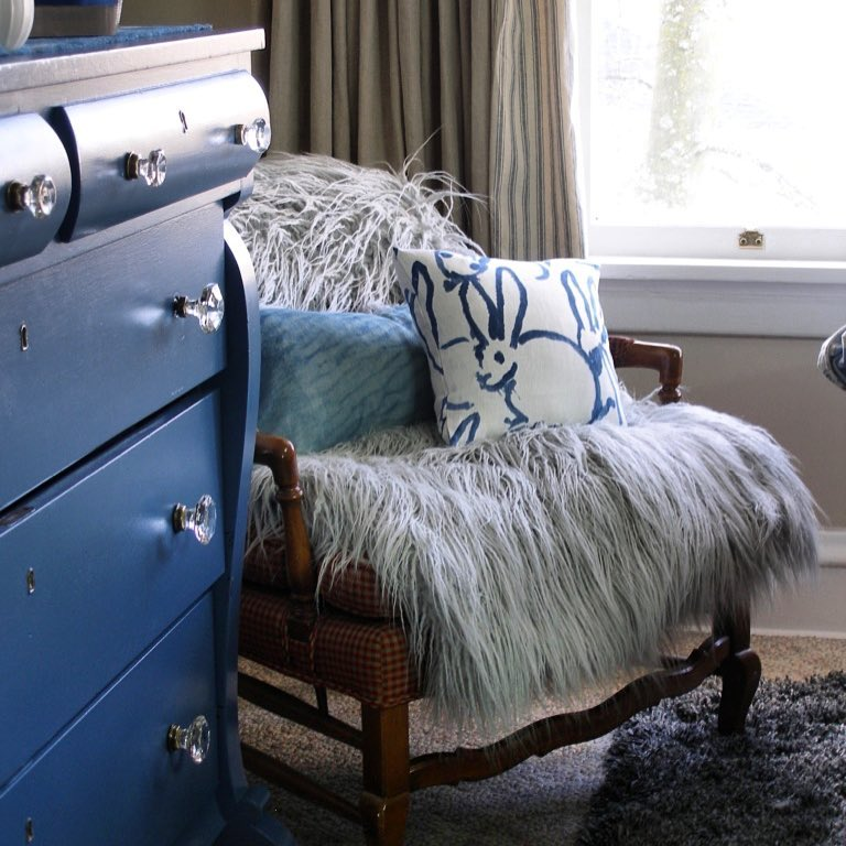 American Empire dresser painted in Van Deusen Blue