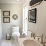 Benjamin Moore Edgecomb Gray Bathroom