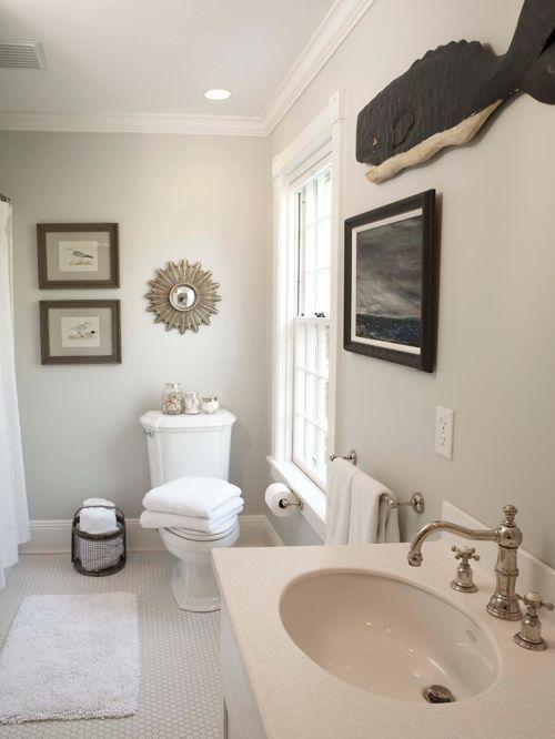 Benjamin Moore Edgecomb Gray Bathroom