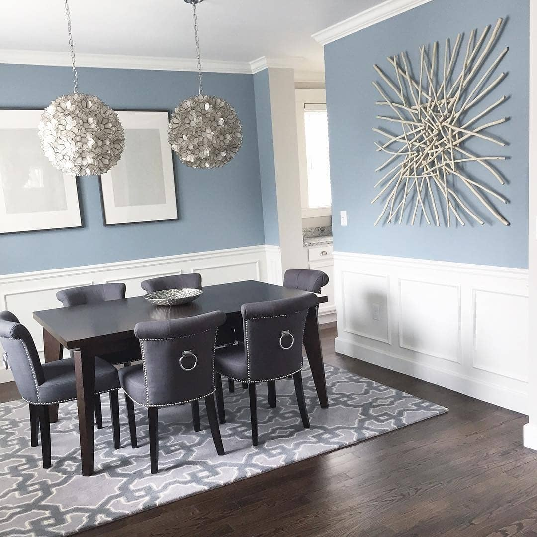 Paint Colors For Dining Rooms: Benjamin Moore Nimbus Grey Dining Room