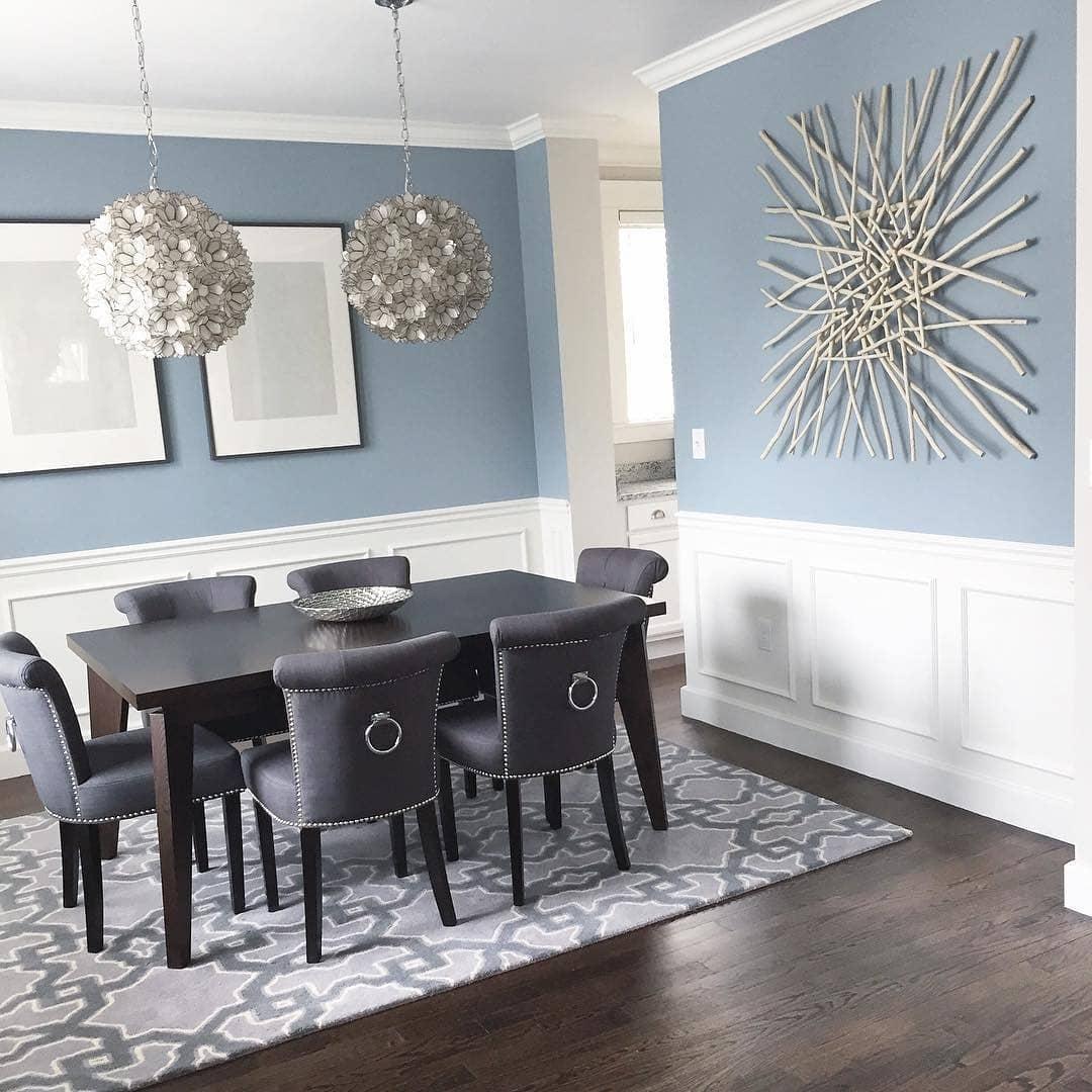 Dining Room Colors: Benjamin Moore Nimbus Grey Dining Room