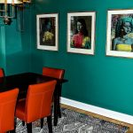 Benjamin Moore Steamed Spinach Dining Room Walls Green Paint COlor Scheme