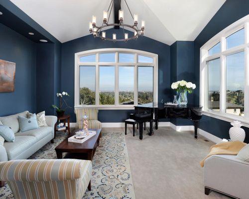 Benjamin moore van deusen blue navy paint color schemes - Navy blue living room color scheme ...