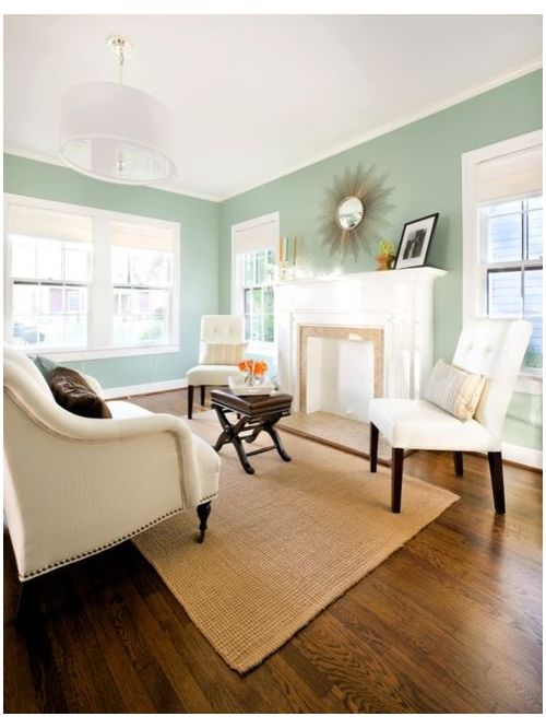 Benjamin Moore Wythe Blue Formal Living Room - Click on image to see more examples of this paint color.