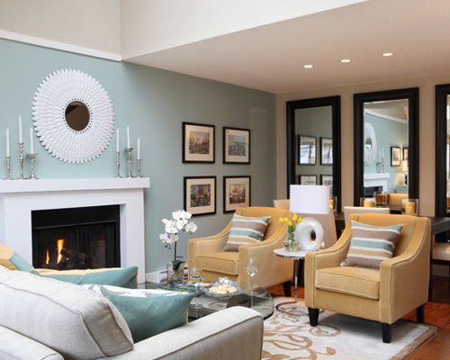 Benjamin Moore Wythe Blue Paint Color Living Room