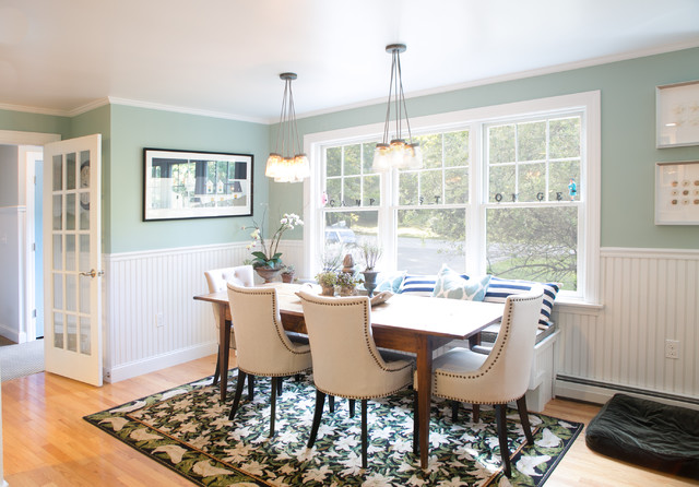 Benjamin Moore Wythe Blue Paint Dining Room