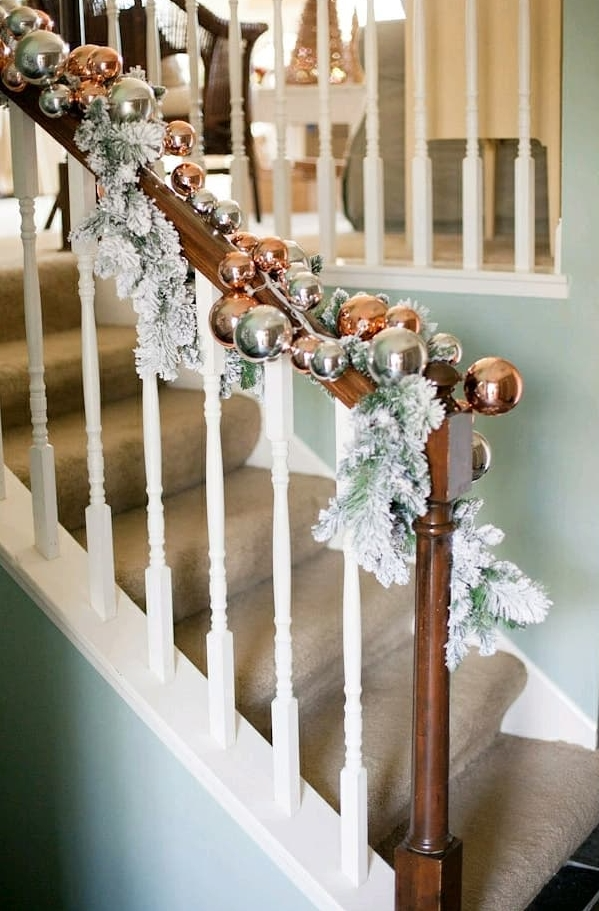 Benjamin Moore Wythe Blue Painted Staircase Wall - Click on image to see more examples of this paint color