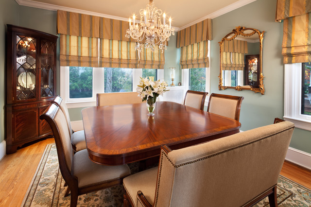 Benjamin Moore Wythe Blue Traditional Dining Room - Click on image to see more examples