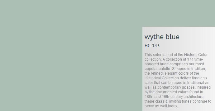 Benjamin Moore Wythe Blue