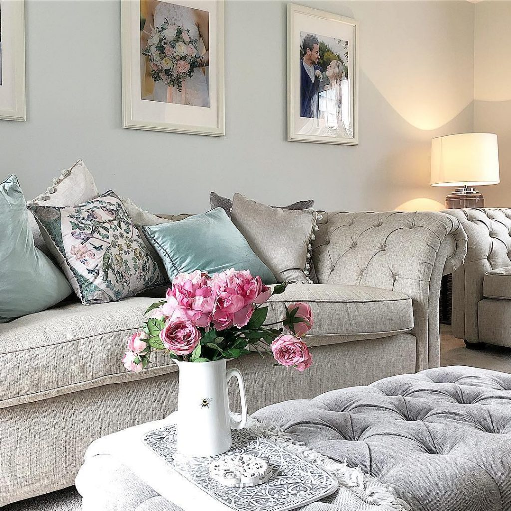 Farrow & Ball Cabbage White Paint Color Schemes Living Room Walls