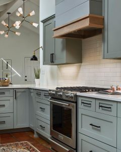 Valspar Gray Shingle Painted Kitchen Cabinets Interiors