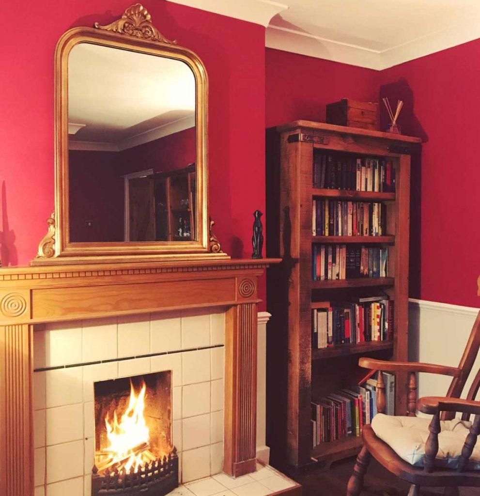 Farrow & Ball Rectory Red wall paint color scheme living room