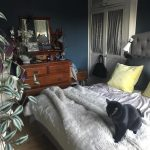 Farrow & Ball Stiffkey Blue Painted Bedroom Walls