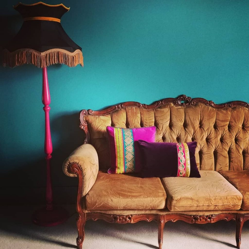 Farrow & Ball Vardo paint color scheme wall paint turquoise teal