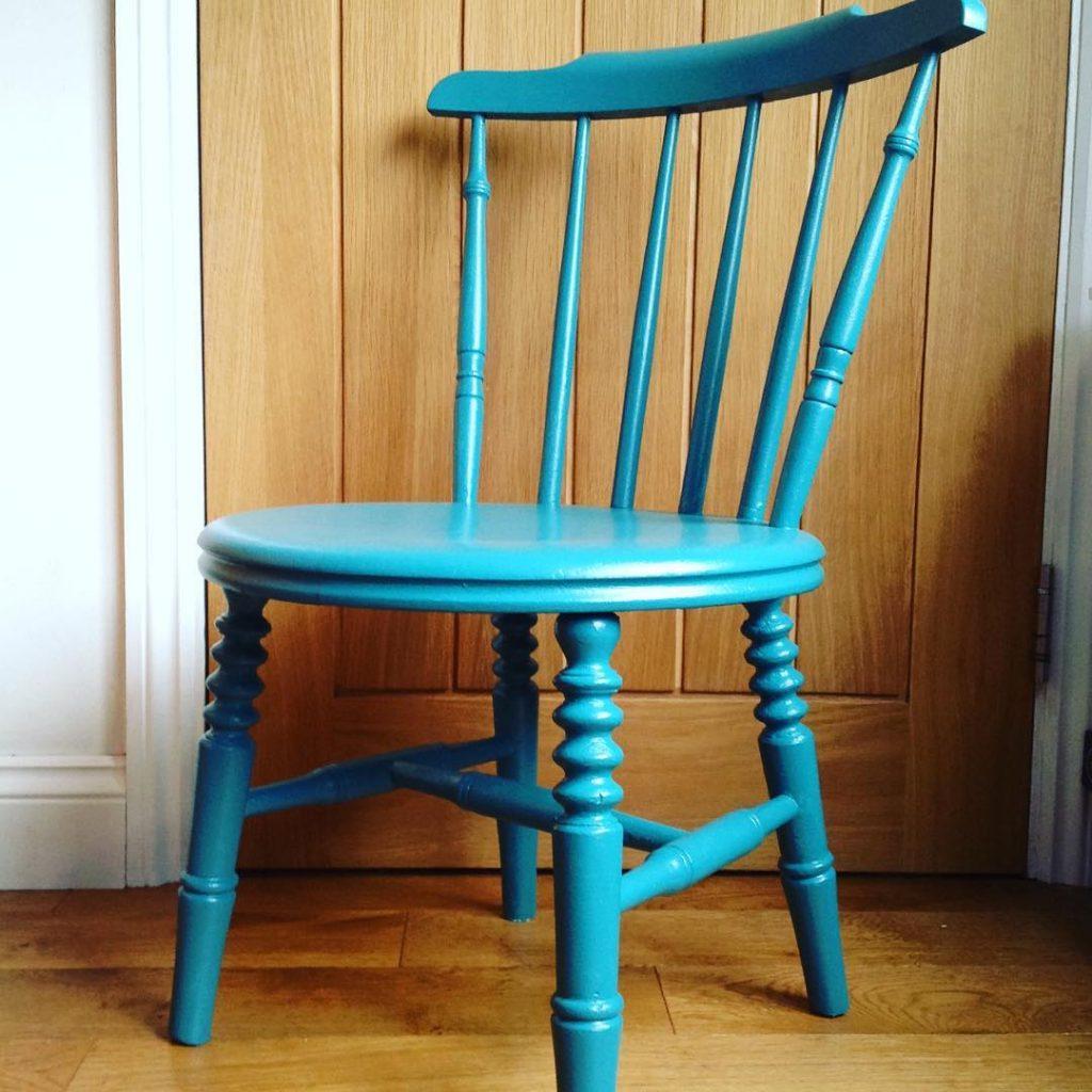 Farrow & Ball Vardo painted chair