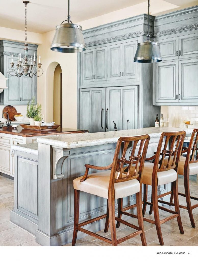 French Country Kitchen In Blue Color Scheme Interiors By