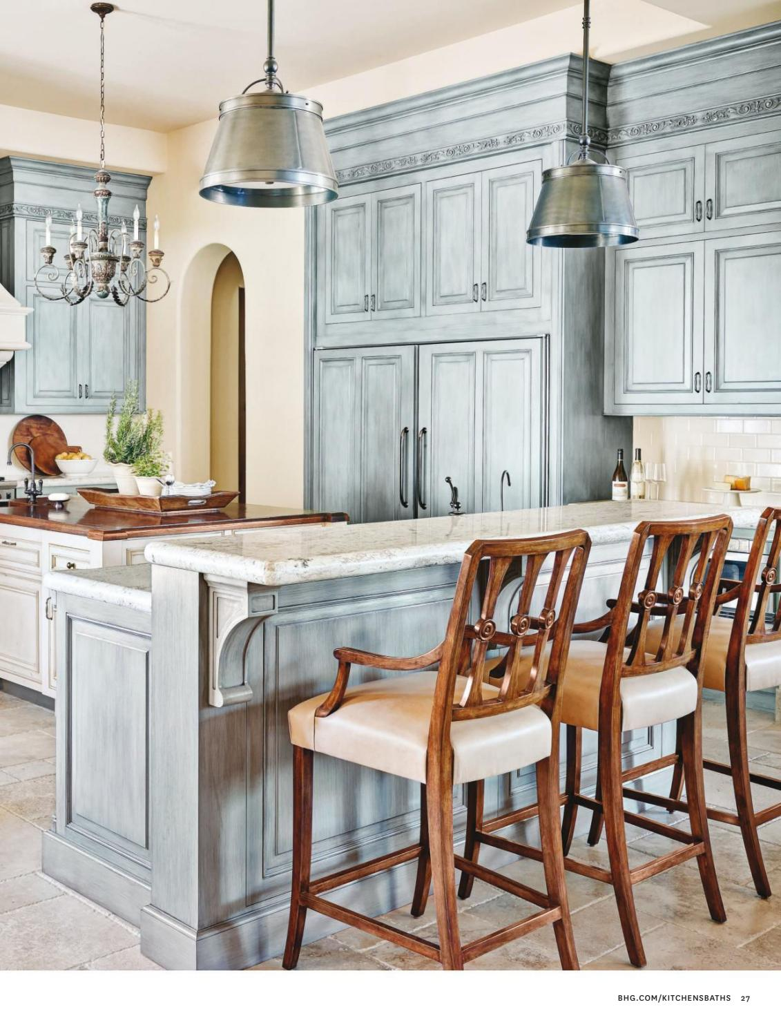 French Country Kitchen in Blue Color Scheme - Interiors By Color