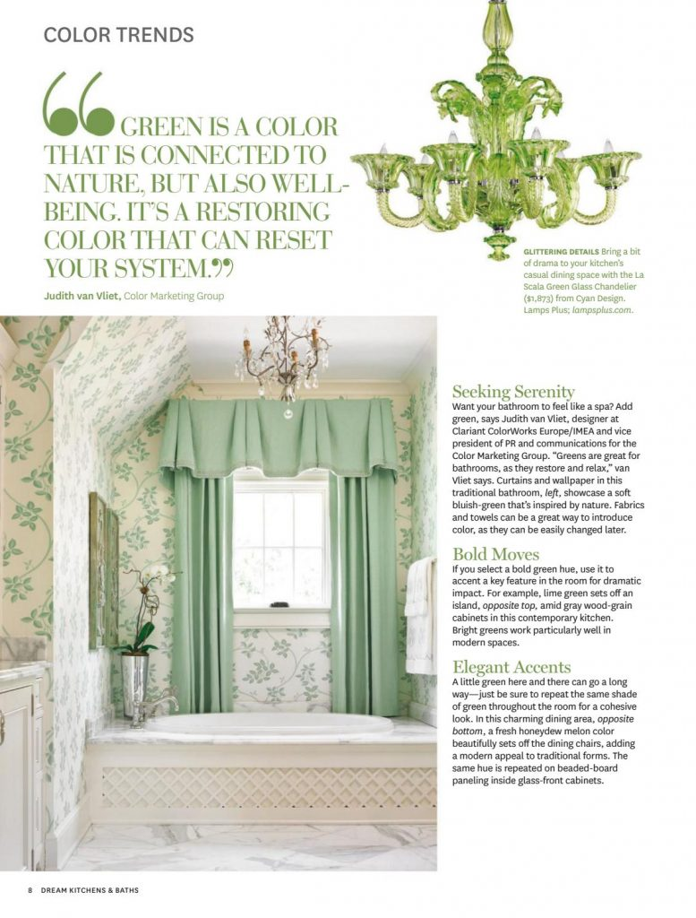 Green bathroom, ideas for the bathroom when decorating with green