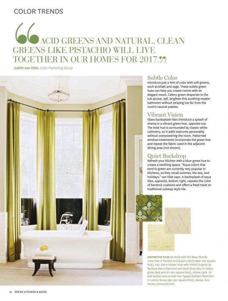 Green color scheme tips