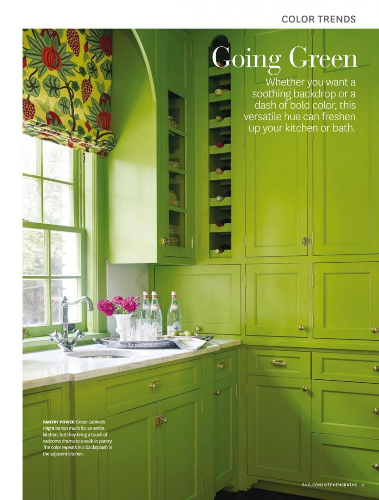 Green kitchen cabinets, kitchen with a green color scheme