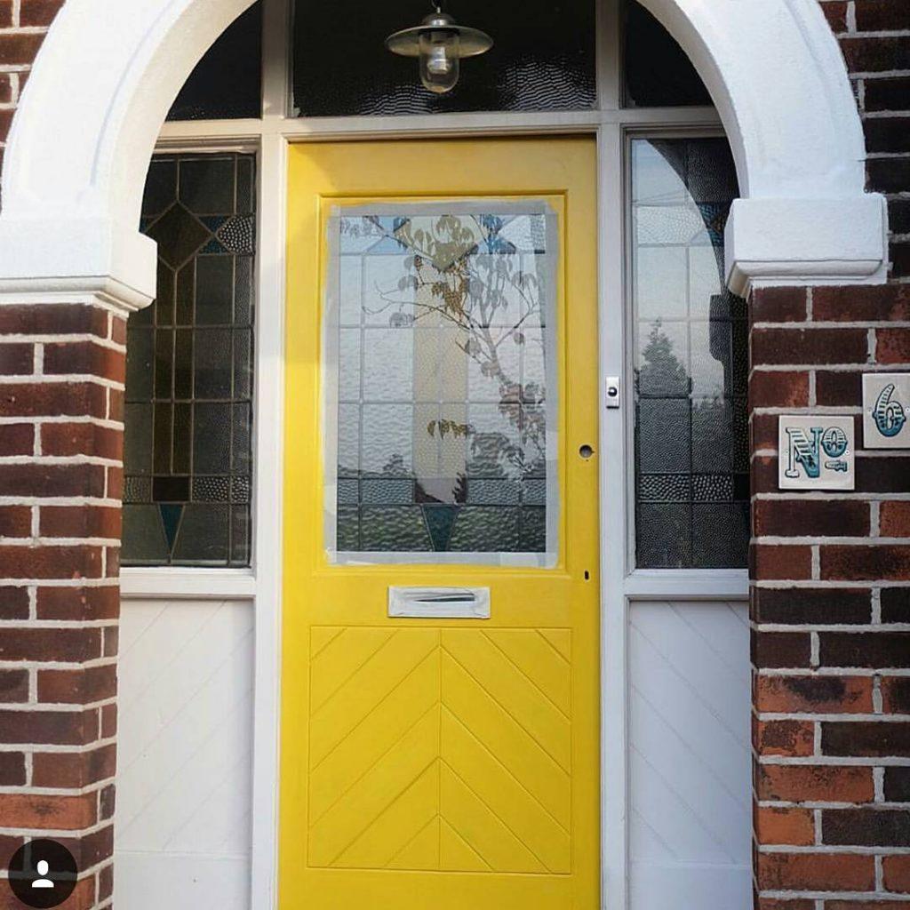 Little Greene Mister David paint door statement door
