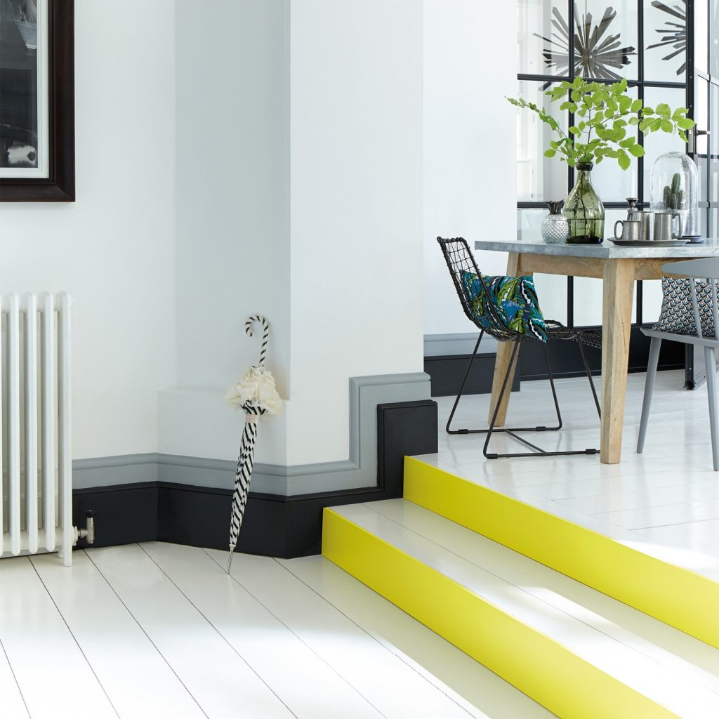 Little Greene Trumpet paint color stairs