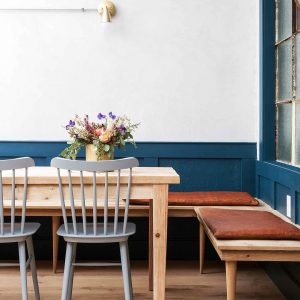 Sherwin Williams Seaworthy Paint Color Scheme Dining Room Interiors