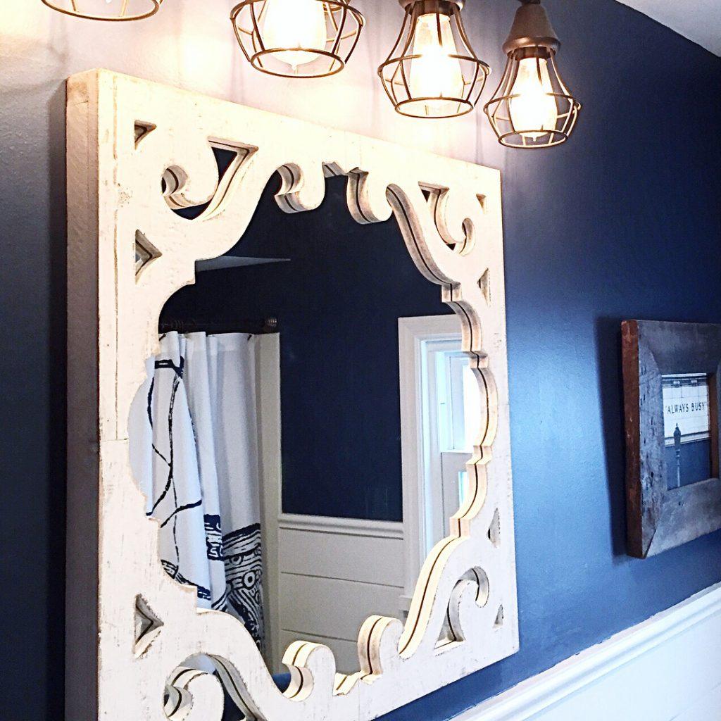 Van Deusen Blue by Benjamin Moore painted walls color sheme