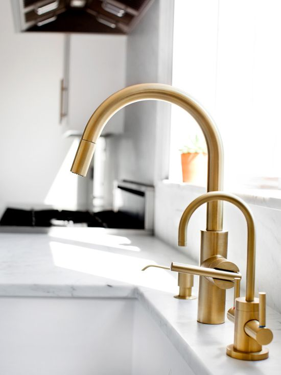 bronze taps for the kitchen