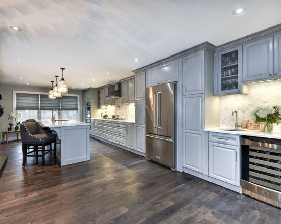 Traditional Kitchen in Pebble Gray - Interiors By Color