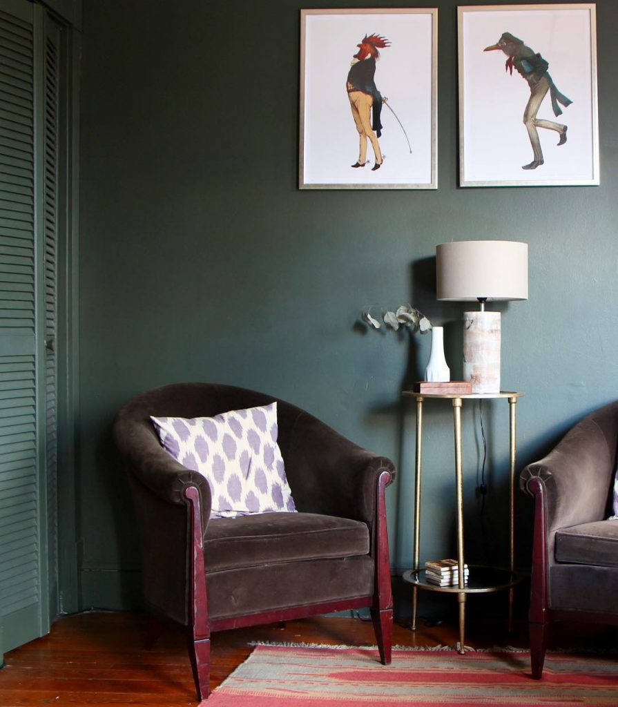 Benjamin Moore Vintage Vogue Green Paint Color Scheme
