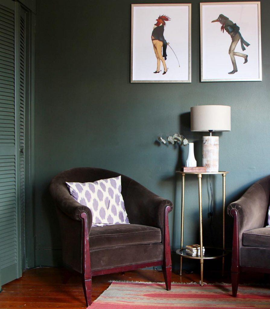 Benjamin Moore Vintage Vogue Green Paint Color Scheme
