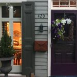 Benjamin Moore Autumn Purple Painted Front Door