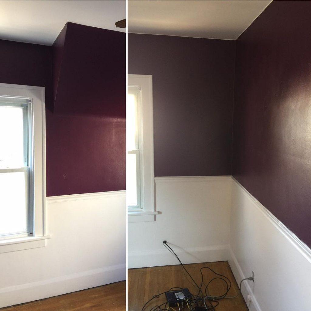 Benjamin Moore Autumn Purple Painted Walls