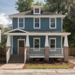 Benjamin Moore Bella Blue Painted House Exterior
