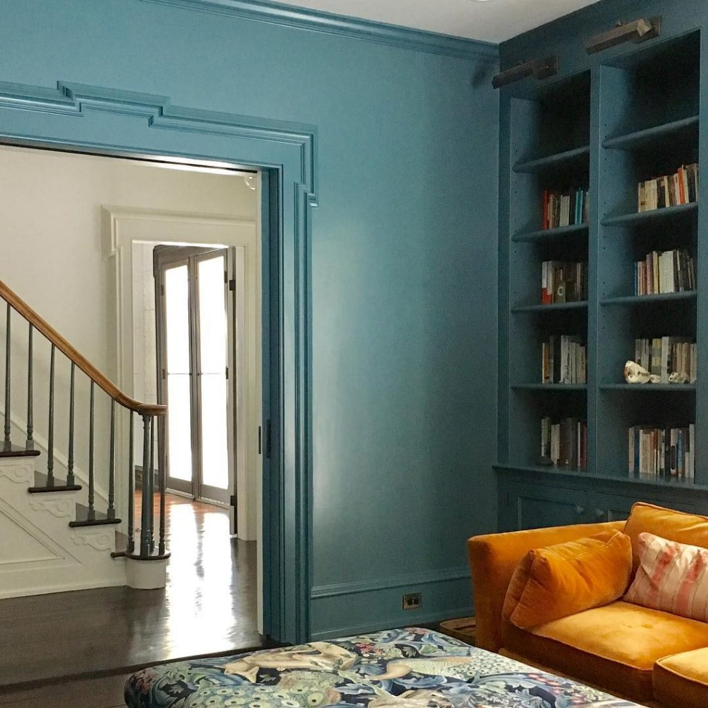 Charcoal Gray Paint >> Benjamin Moore Bella Blue - Interiors By Color