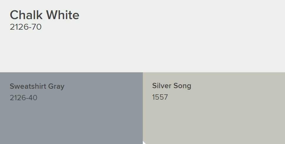 Benjamin Moore Chalk White Paint Color Schemes Interiors
