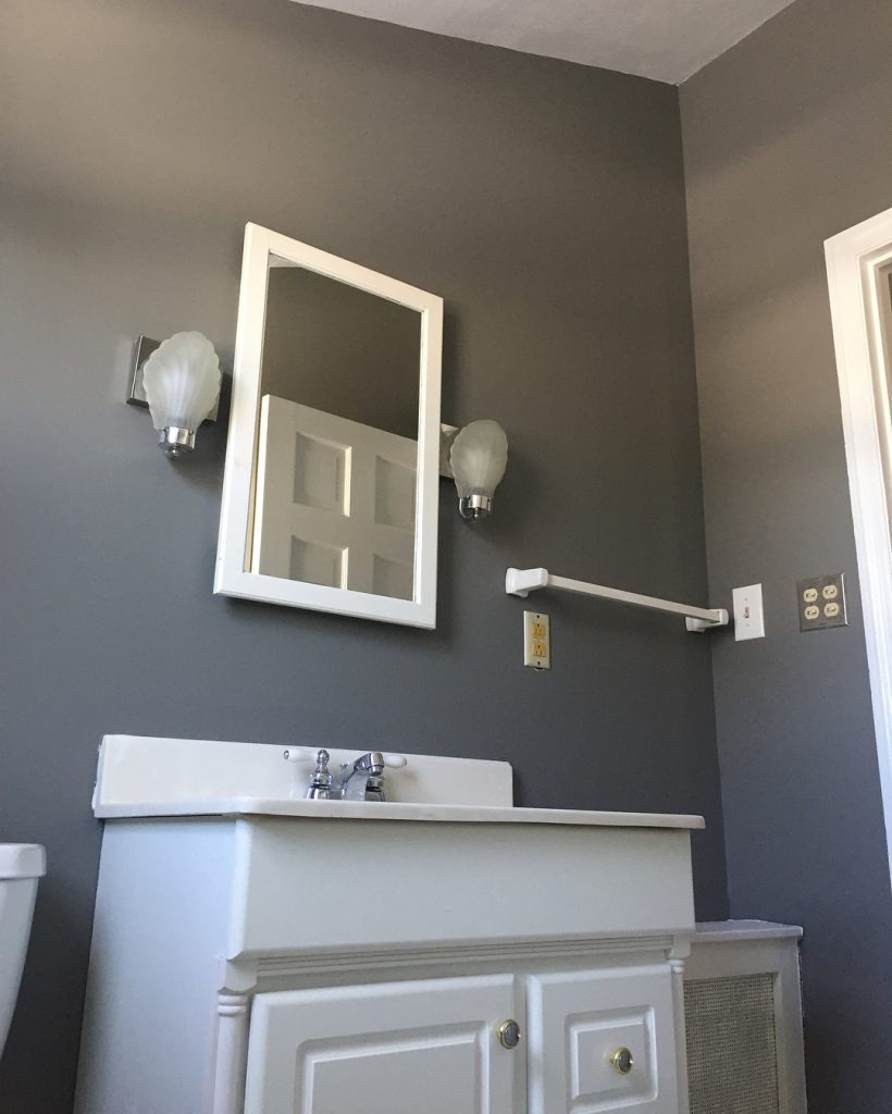 Benjamin Moore Chelsea Gray Bathroom Walls Paint Color