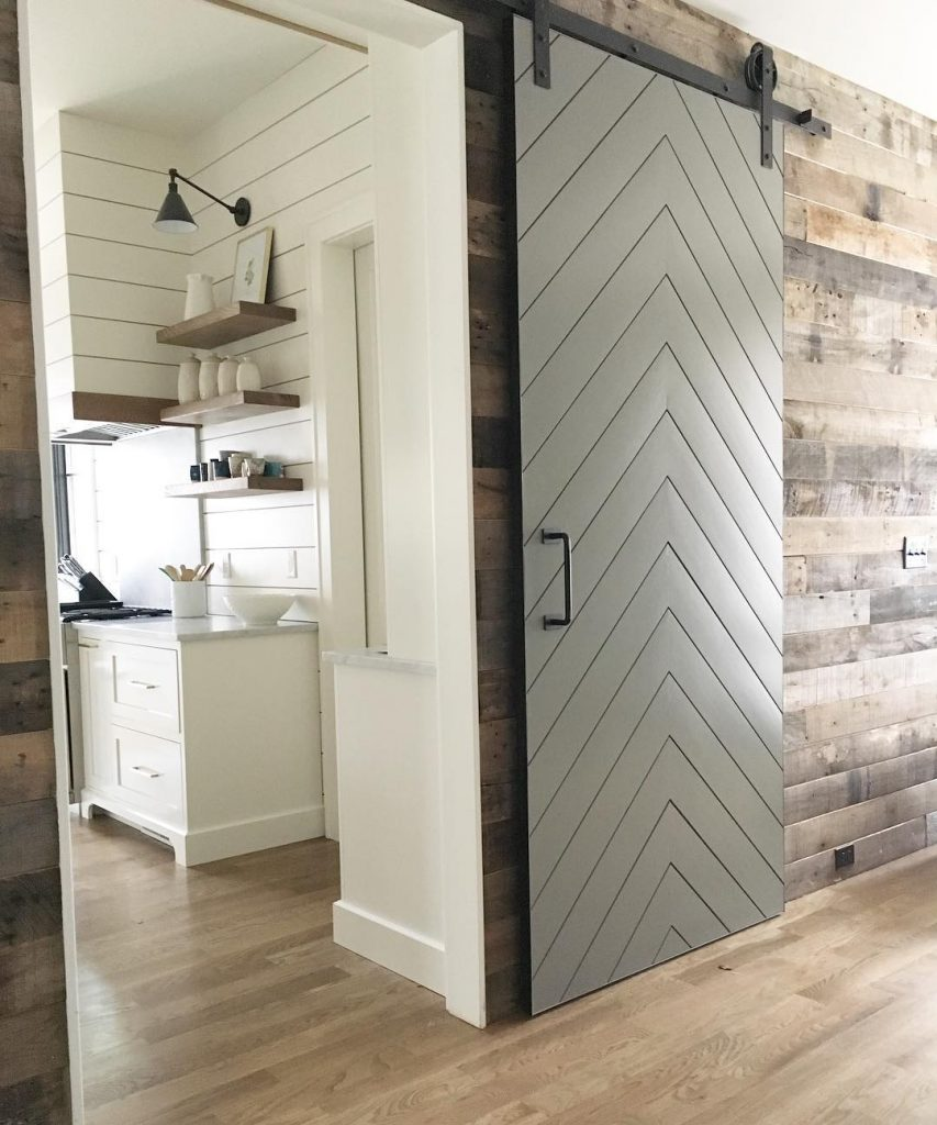 Benjamin Moore Chelsea Gray Painted Barn Door