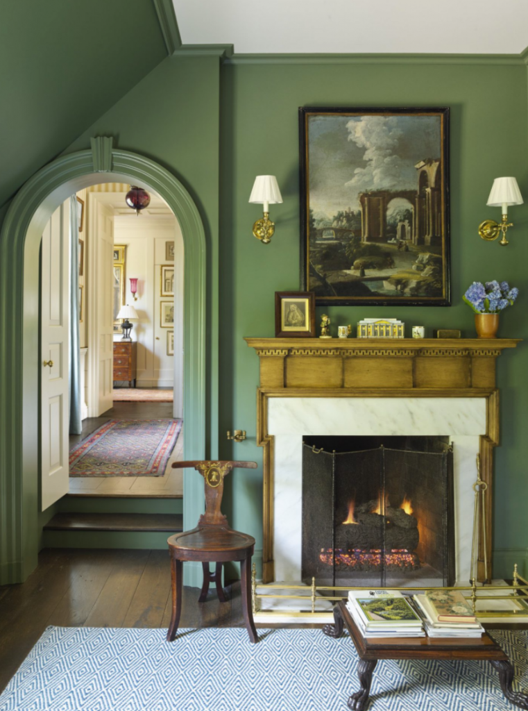 Benjamin Moore Cushing Green Paint Color Schemes