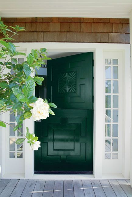 Benjamin Moore Forest Green Green Paint Color Scheme for the Front Door