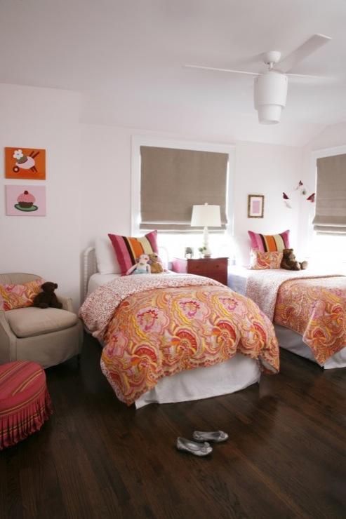 Benjamin Moore Pink Bliss Girls Bedroom Wall Paint Color Scheme