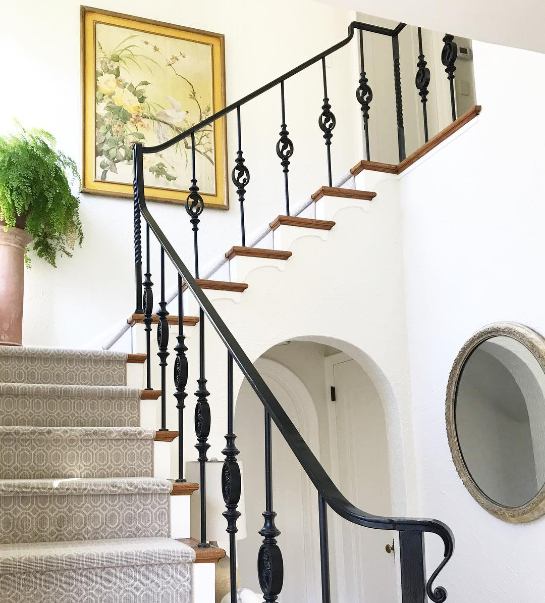 Benjamin Moore Simply White Paint Color Schemes Staircase