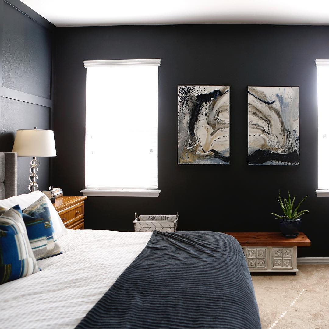 Benjamin Moore Soot Black Paint Bedroom Walls Interiors